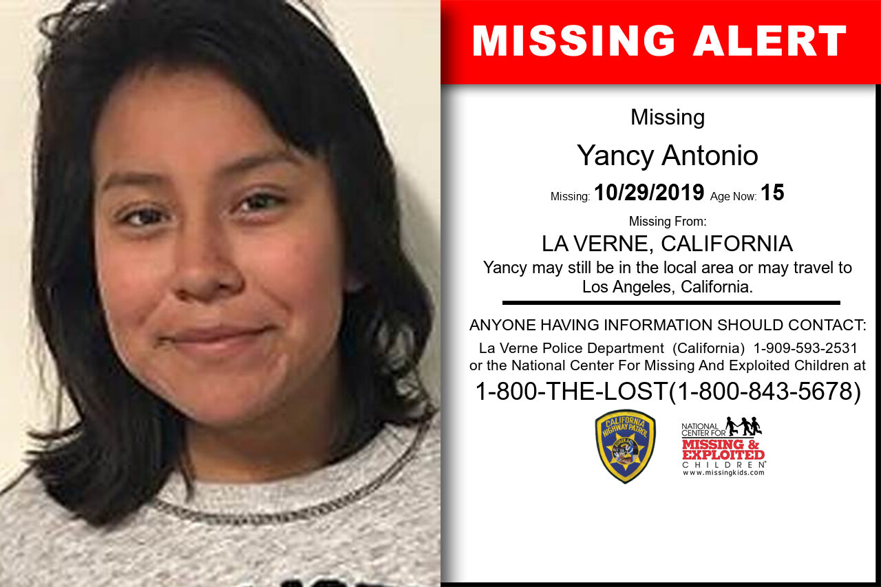 YANCY_ANTONIO missing in California