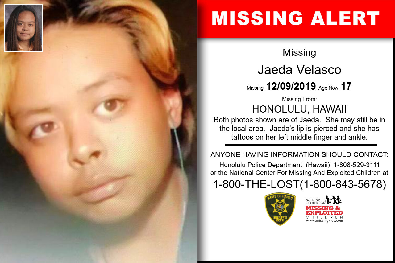 JAEDA_VELASCO missing in Hawaii