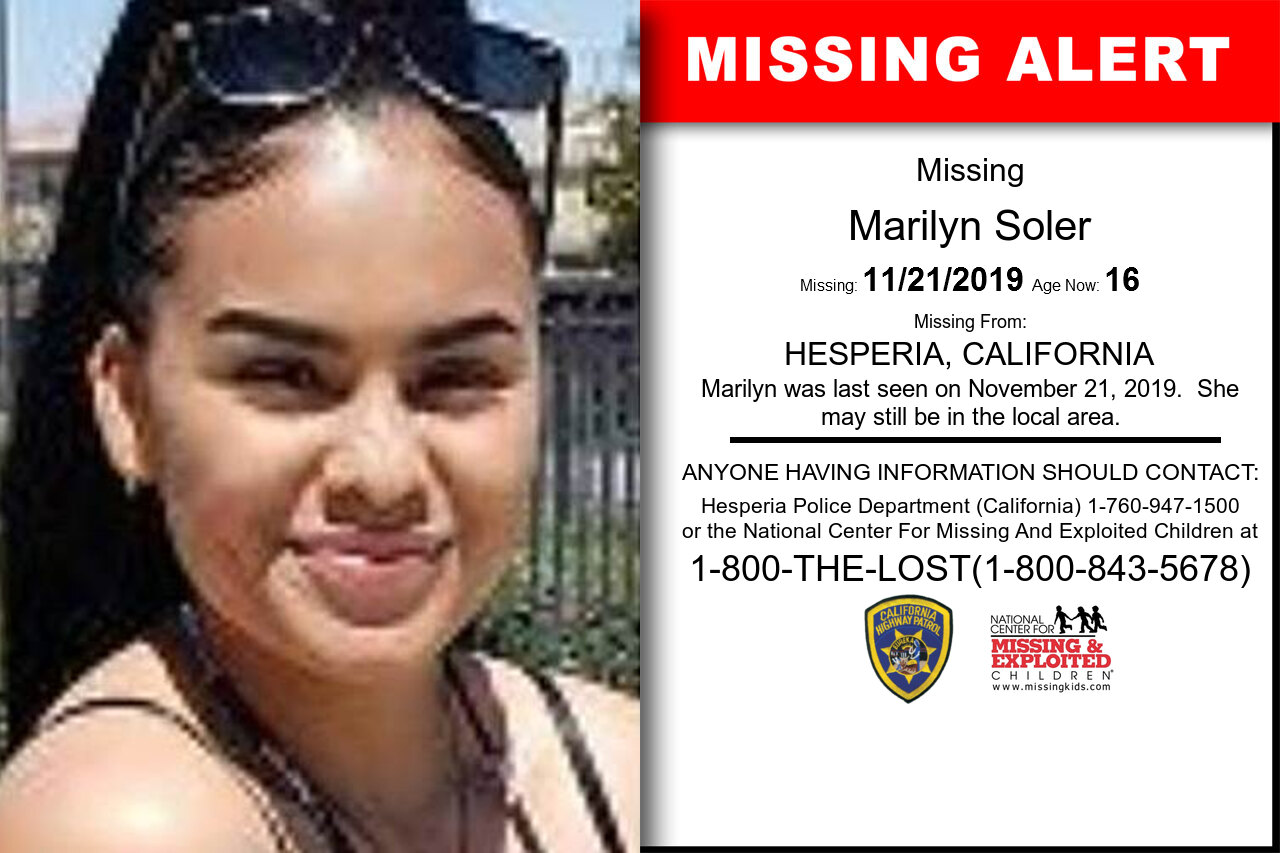 MARILYN_SOLER missing in California