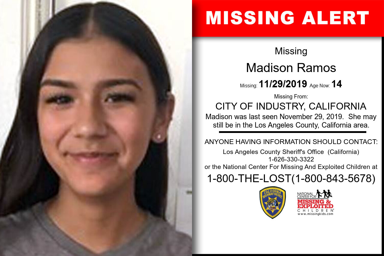 Madison_Ramos missing in California