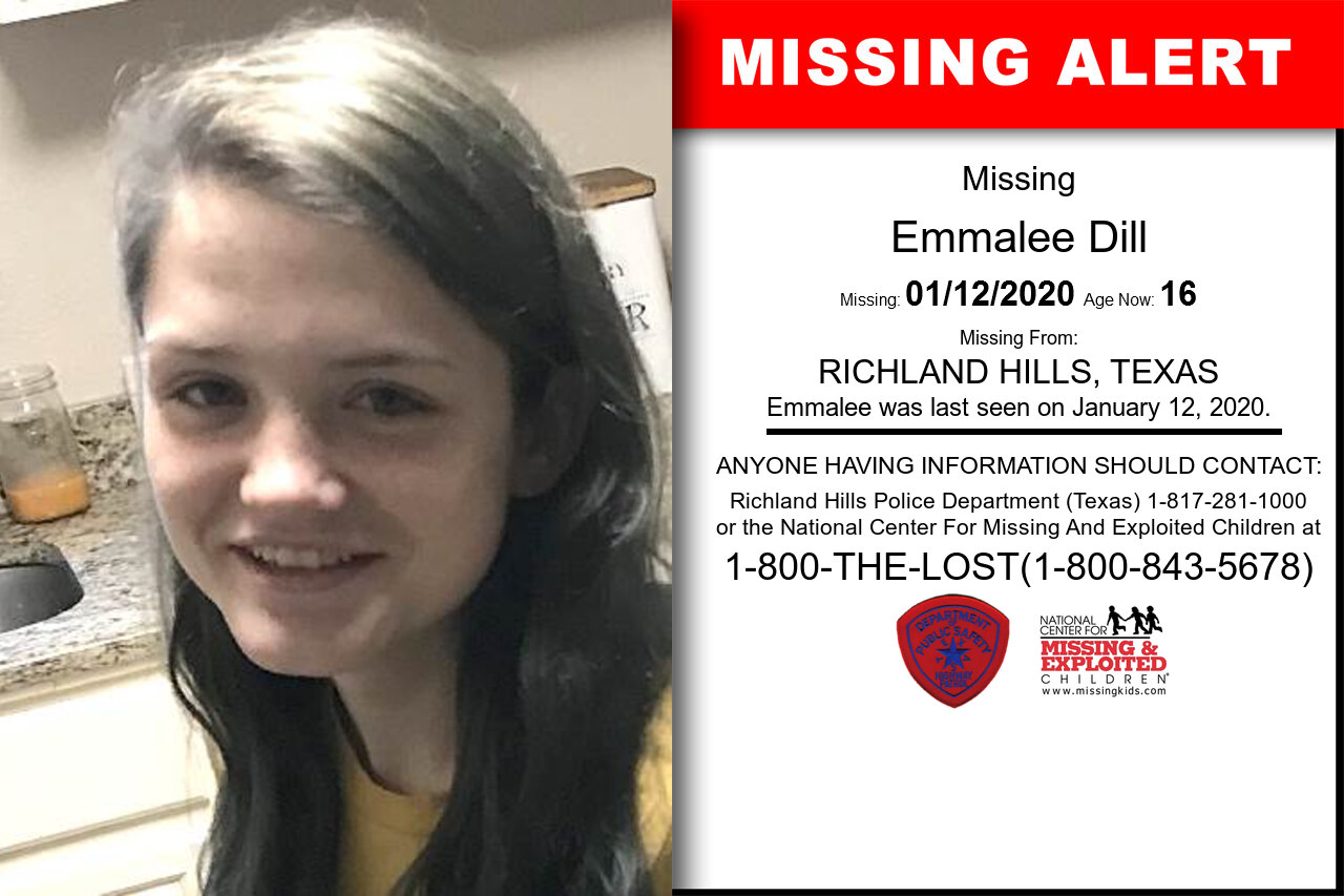 Emmalee_Dill missing in Texas