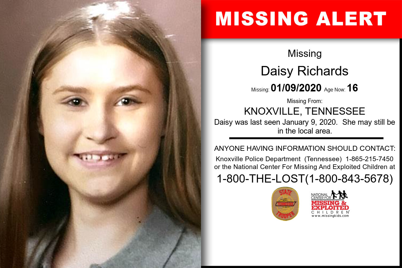 DAISY_RICHARDS missing in Tennessee