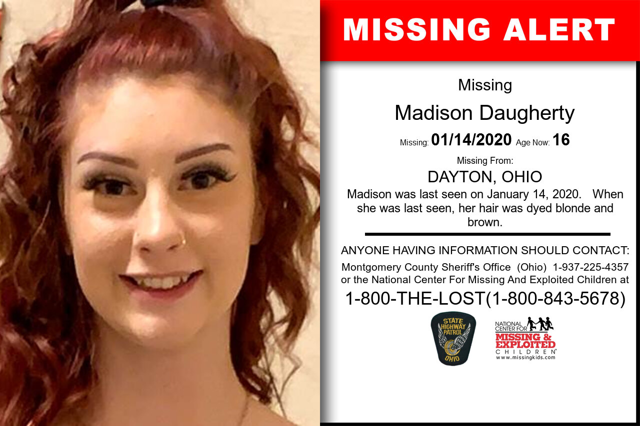 Madison_Daugherty missing in Ohio
