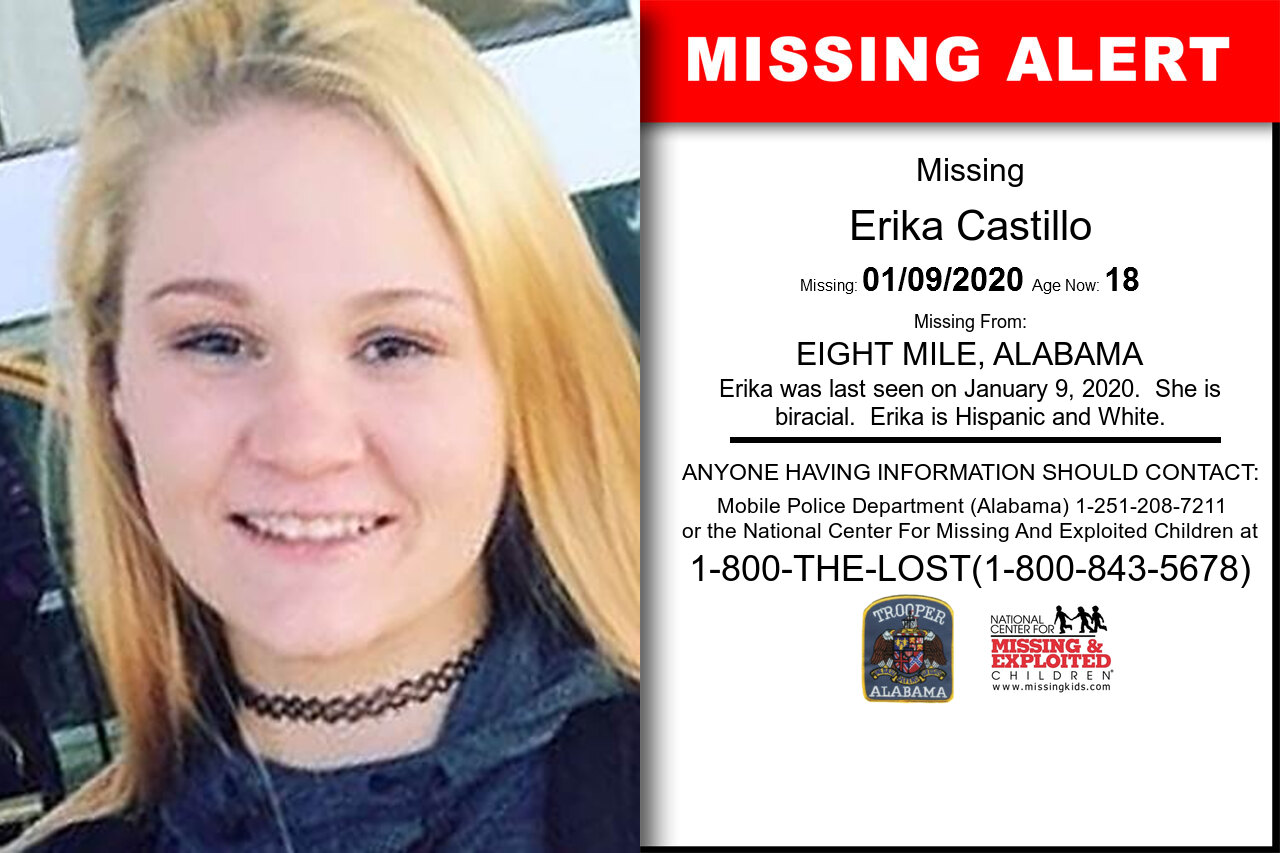Erika_Castillo missing in Alabama