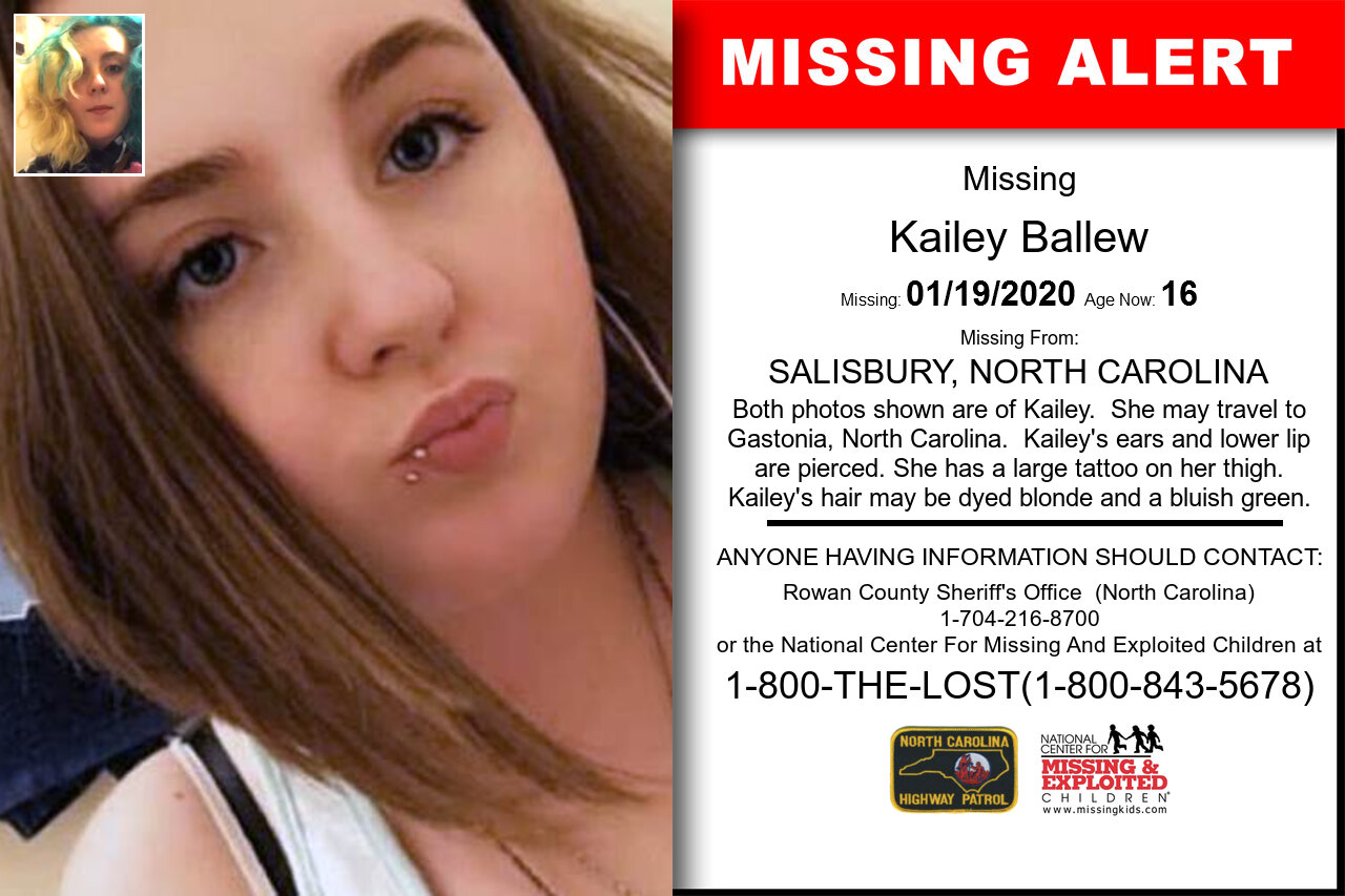 KAILEY_BALLEW missing in North_Carolina
