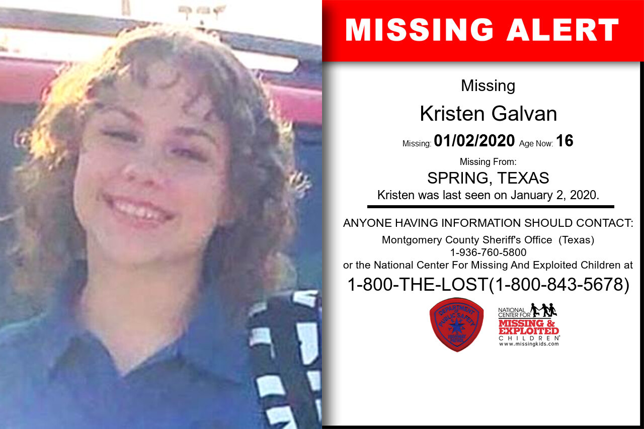 Kristen_Galvan missing in Texas