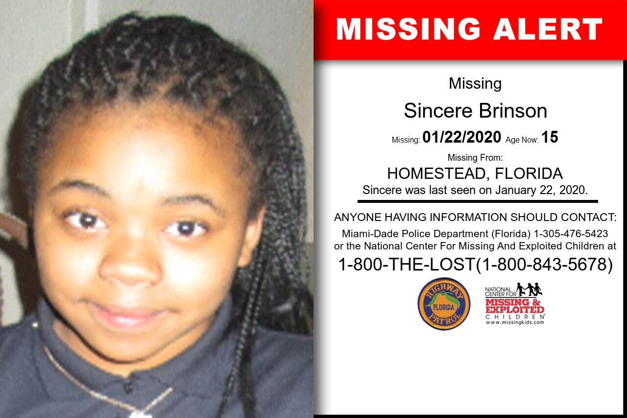 Sincere_Brinson missing in Florida