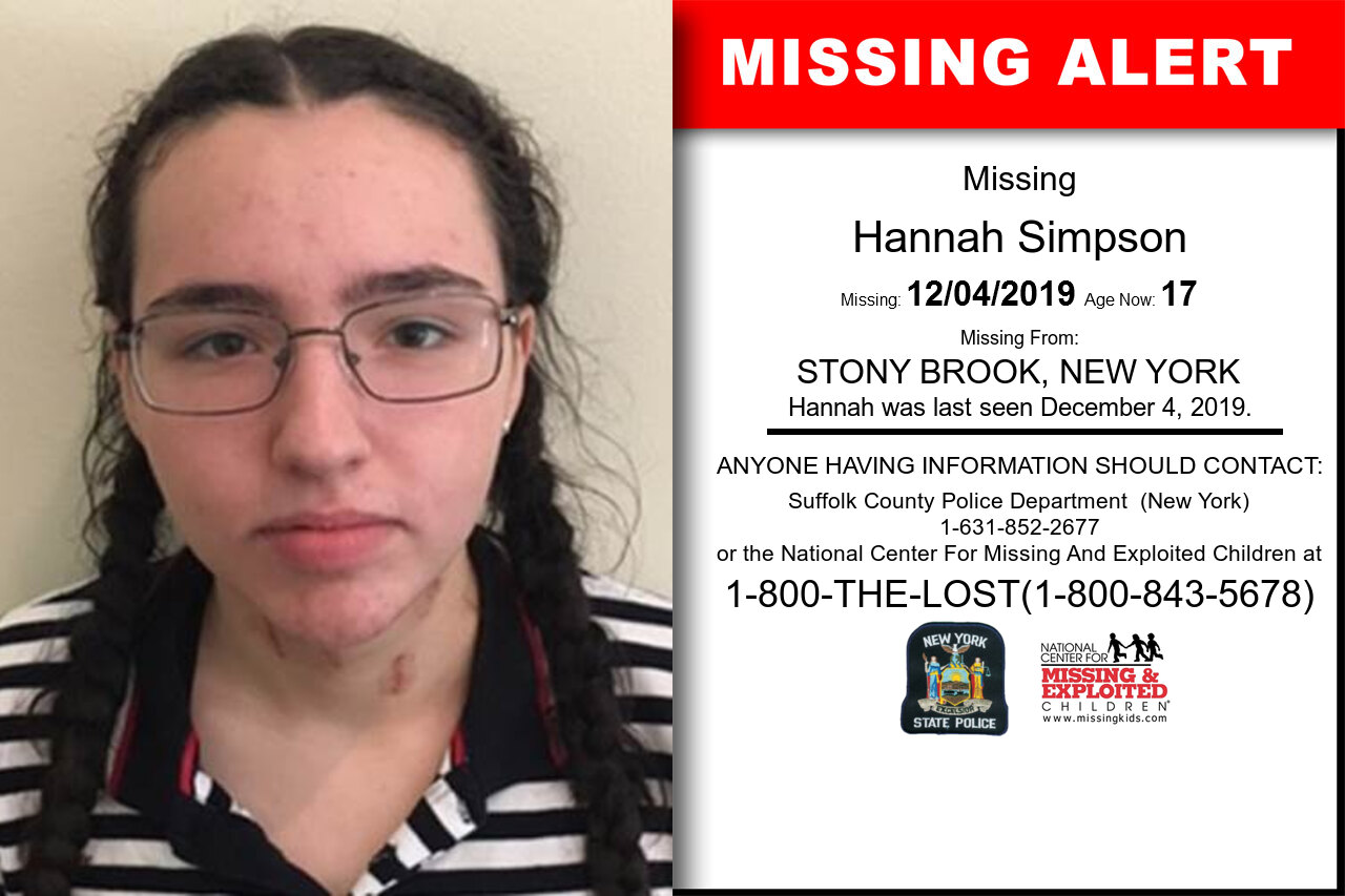 Hannah_Simpson missing in New_York