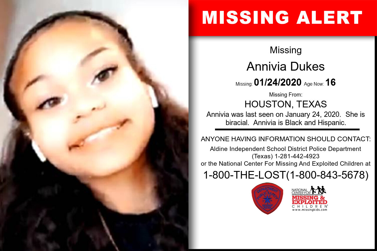 ANNIVIA_DUKES missing in Texas