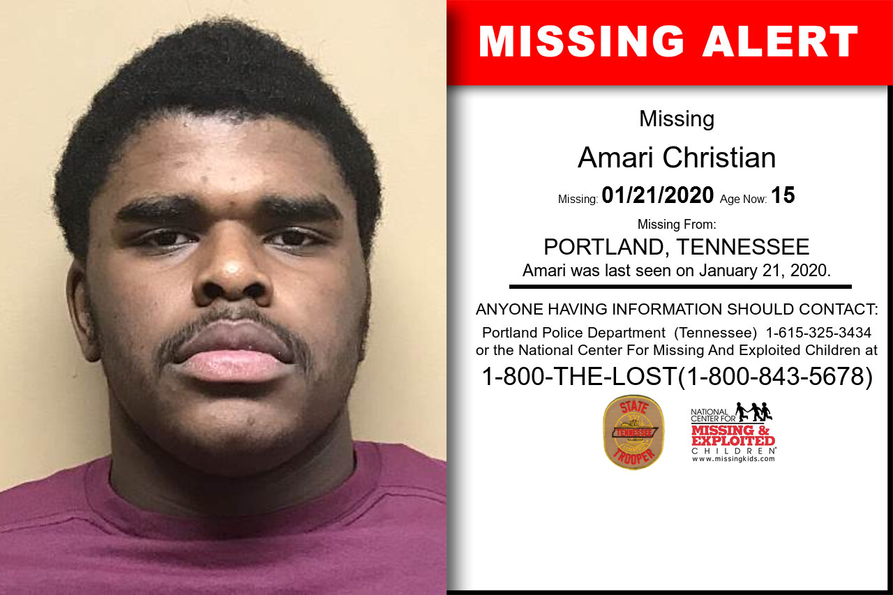 Amari_Christian missing in Tennessee