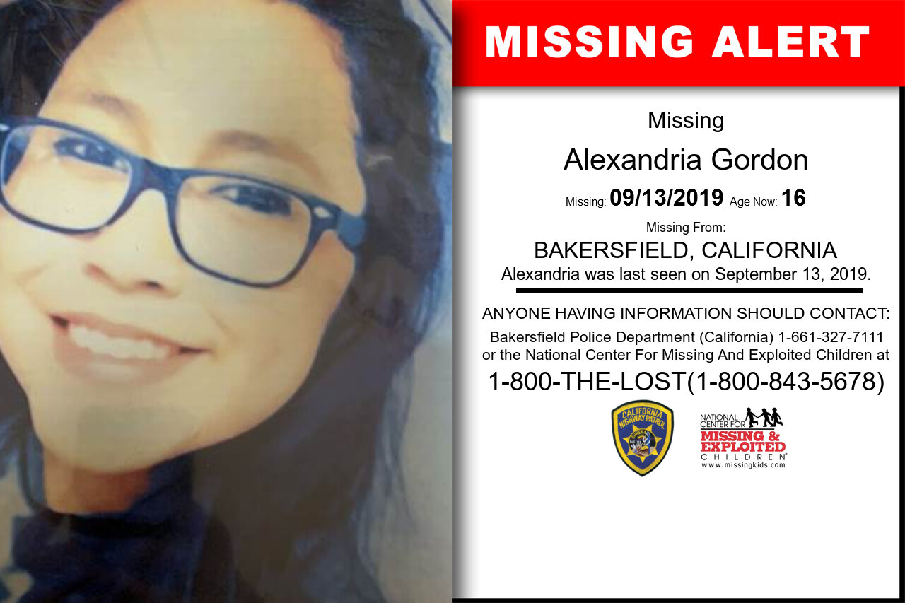 Alexandria_Gordon missing in California