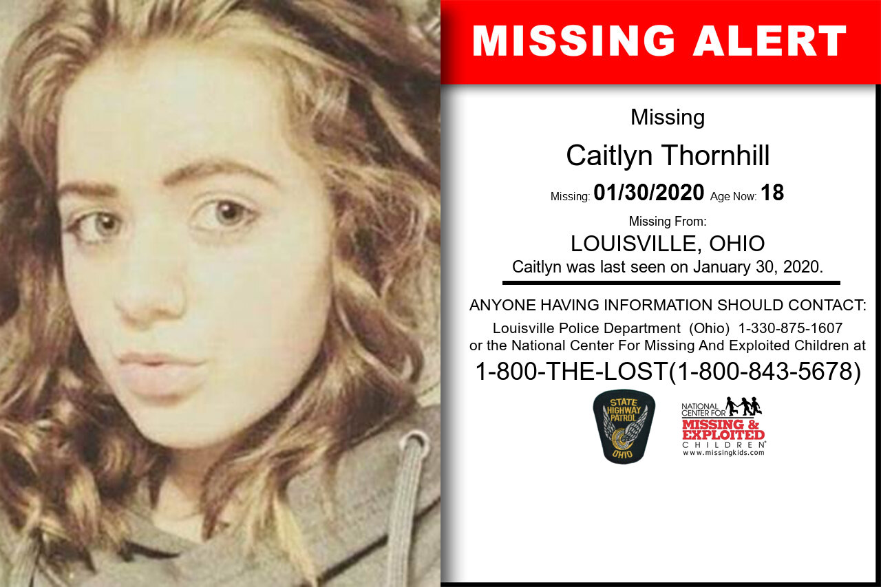 CAITLYN_THORNHILL missing in Ohio