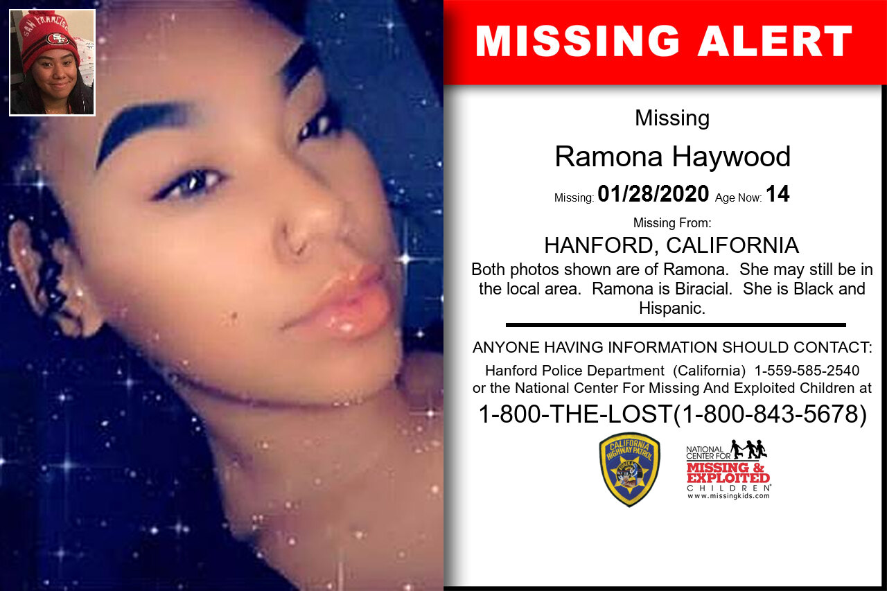 RAMONA_HAYWOOD missing in California