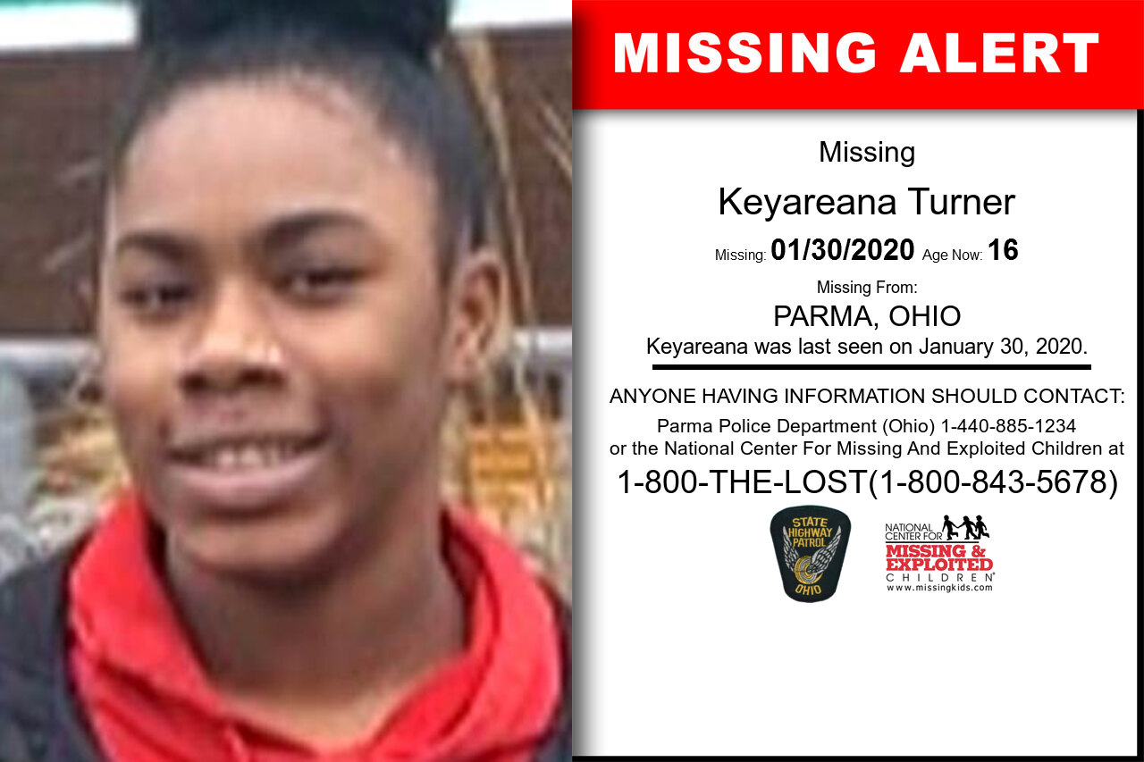 Keyareana_Turner missing in Ohio