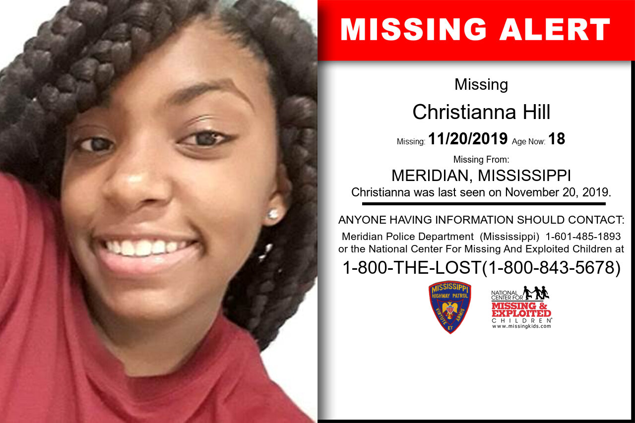 Christianna_Hill missing in Mississippi