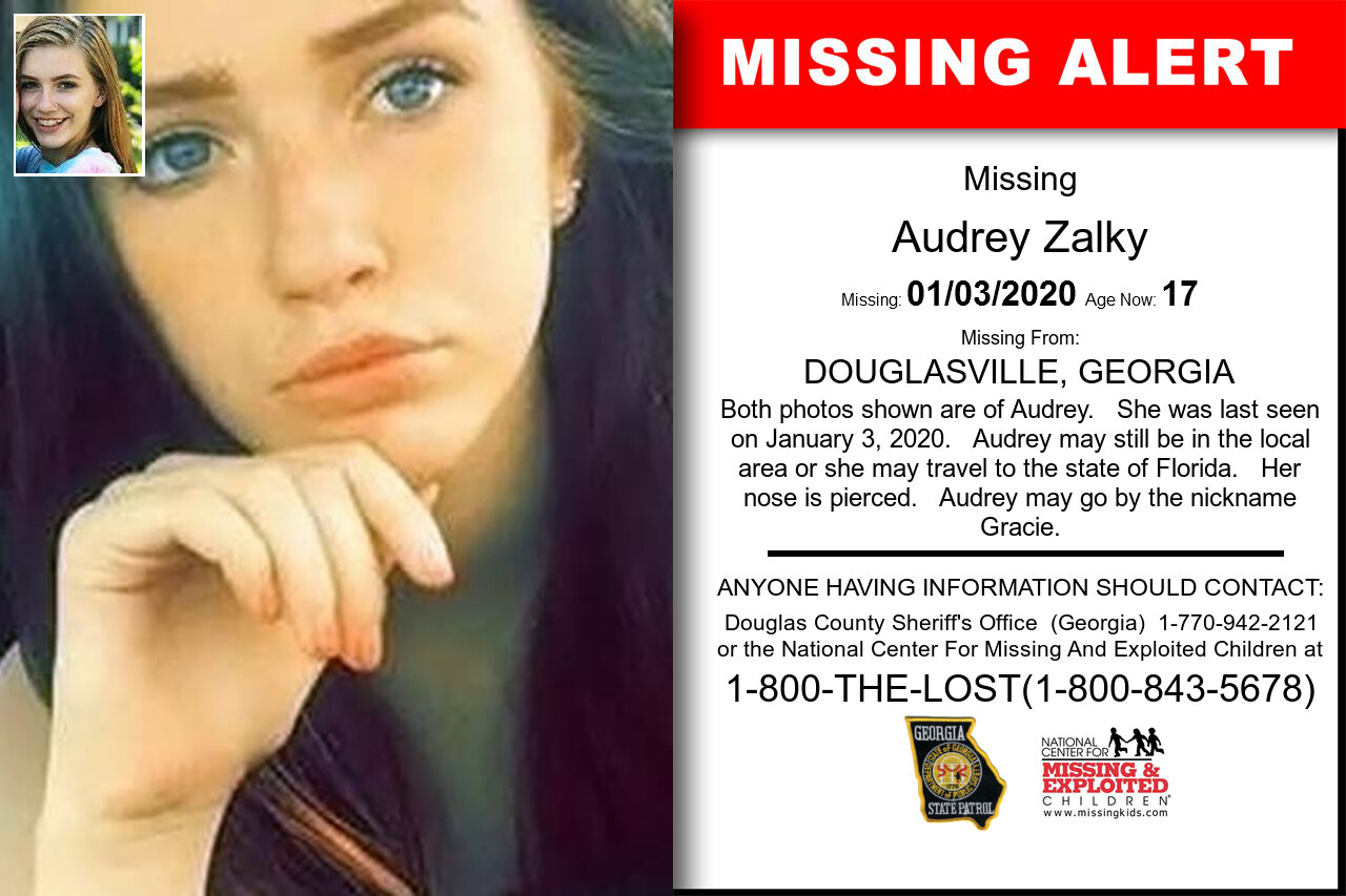 AUDREY_ZALKY missing in Georgia