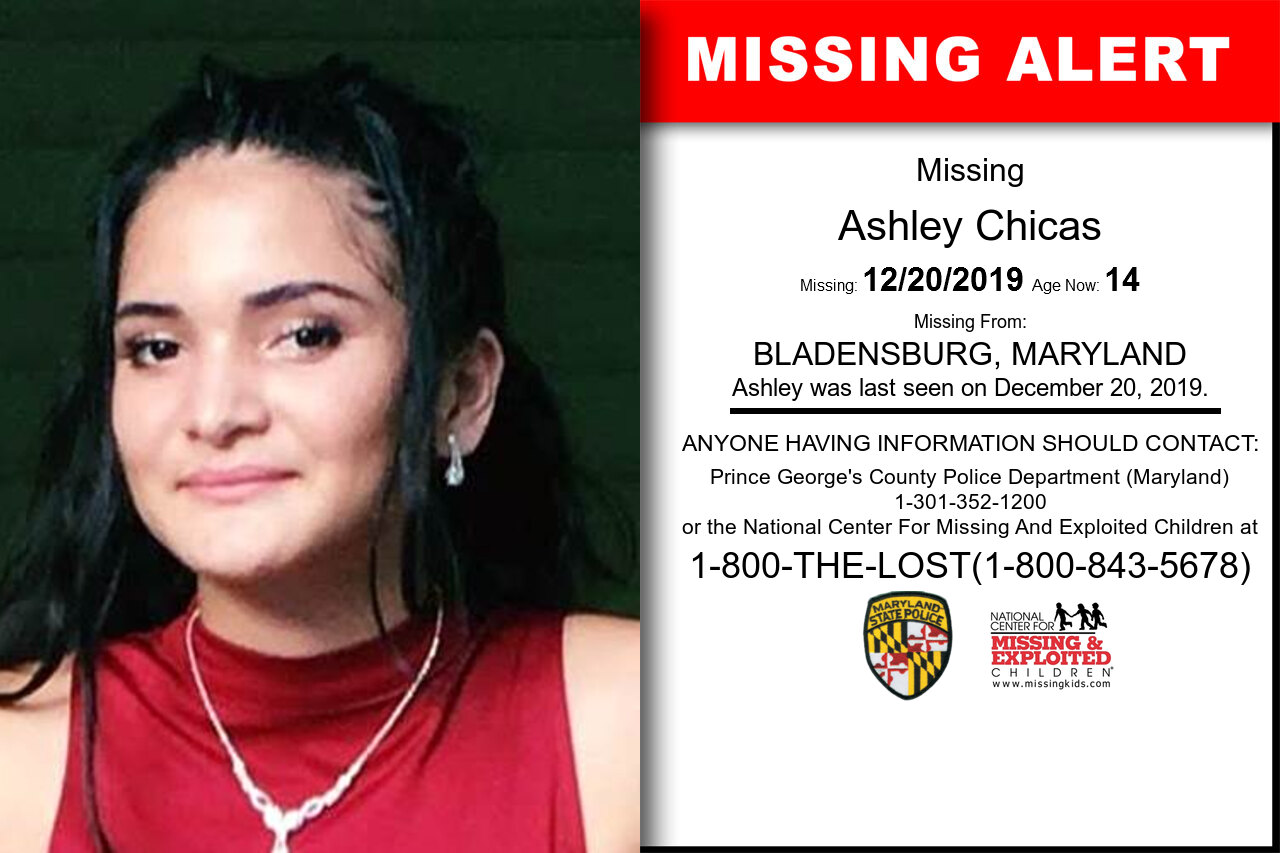 Ashley_Chicas missing in Maryland