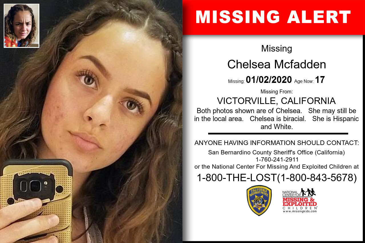 CHELSEA_MCFADDEN missing in California