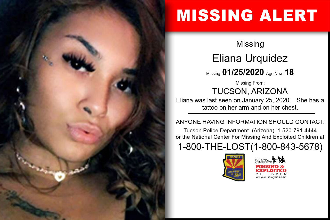 Eliana_Urquidez missing in Arizona