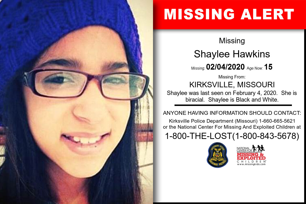 SHAYLEE_HAWKINS missing in Missouri