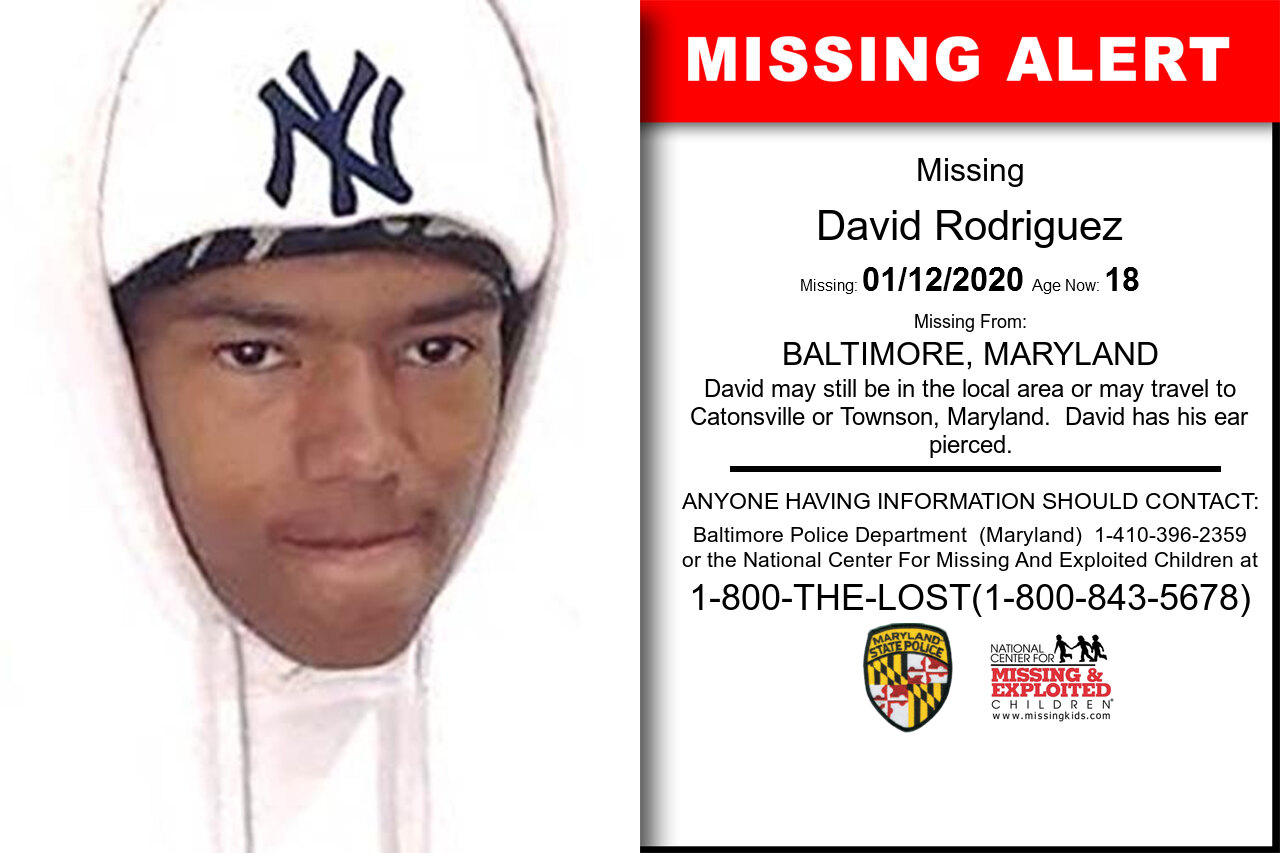 David_Rodriguez missing in Maryland
