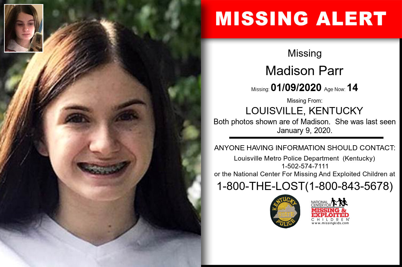 Madison_Parr missing in Kentucky