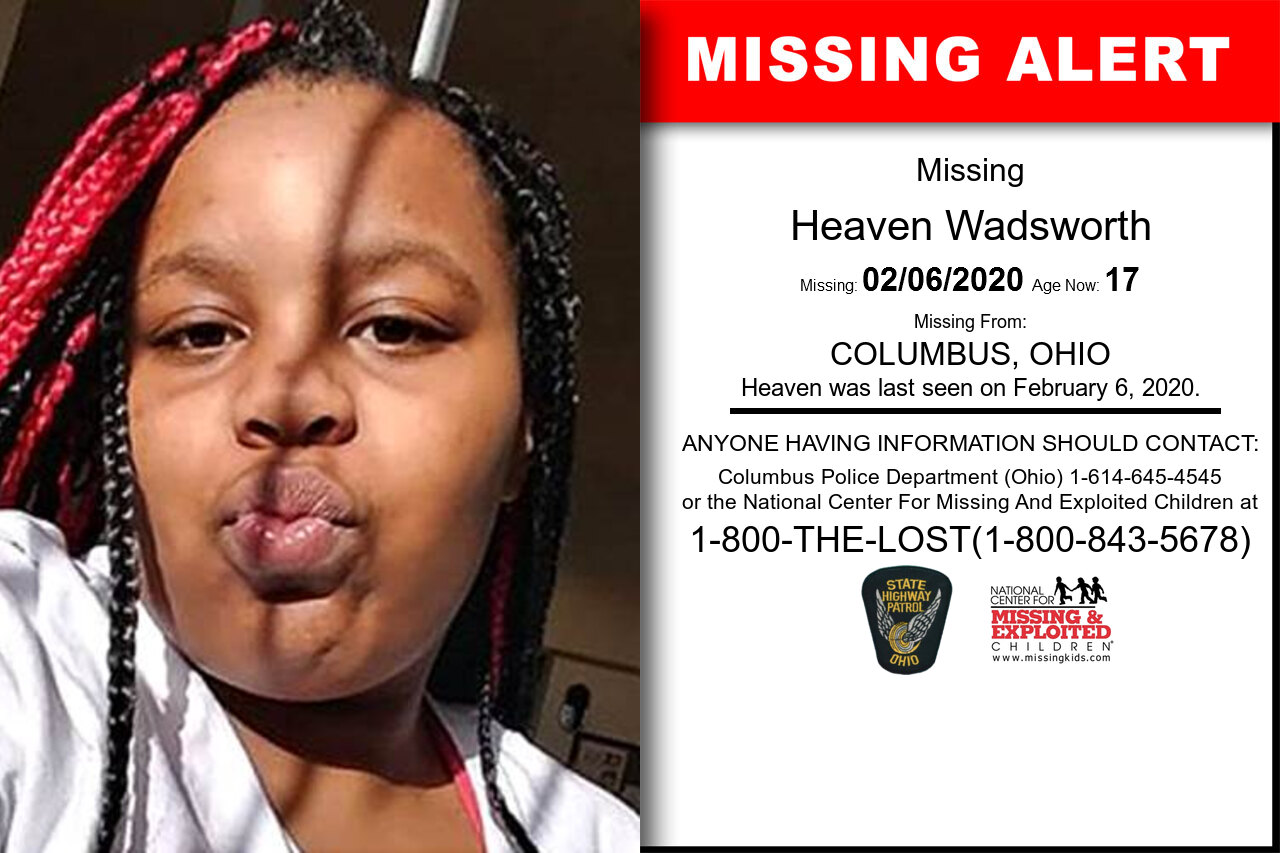 Heaven_Wadsworth missing in Ohio