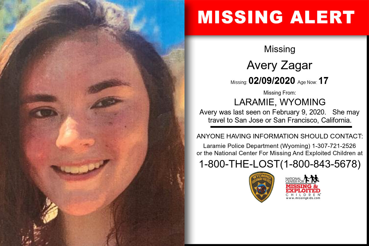 AVERY_ZAGAR missing in Wyoming