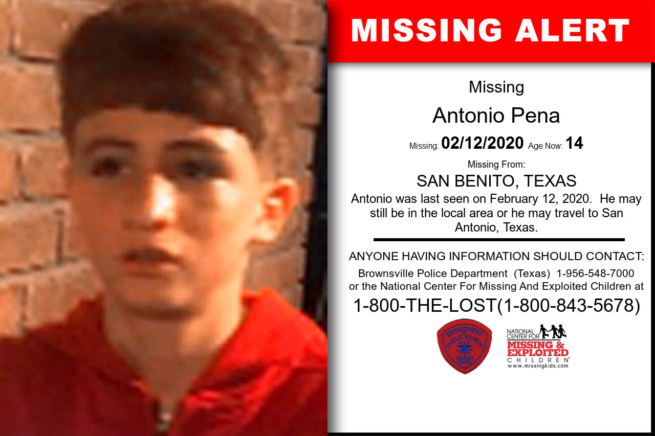 ANTONIO_PENA missing in Texas