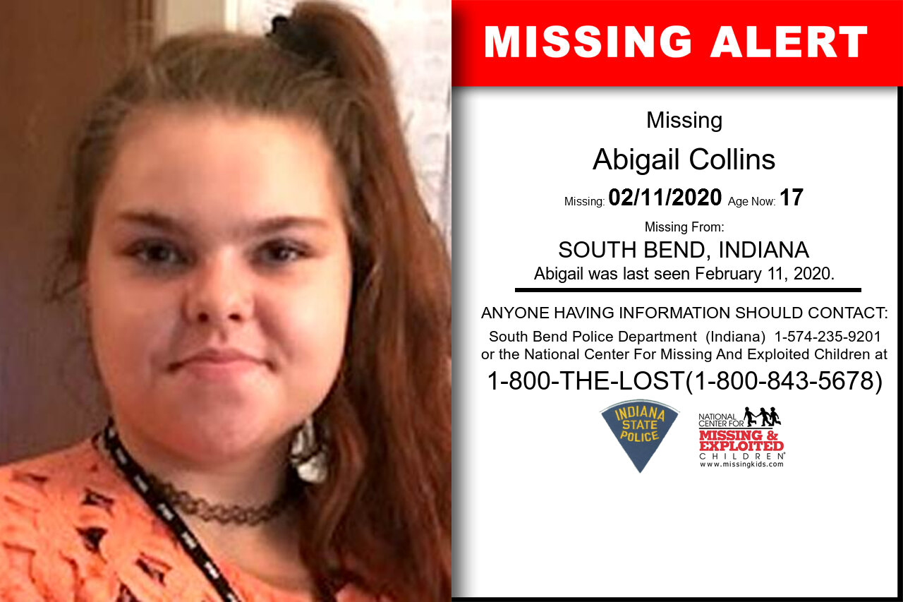 Abigail_Collins missing in Indiana