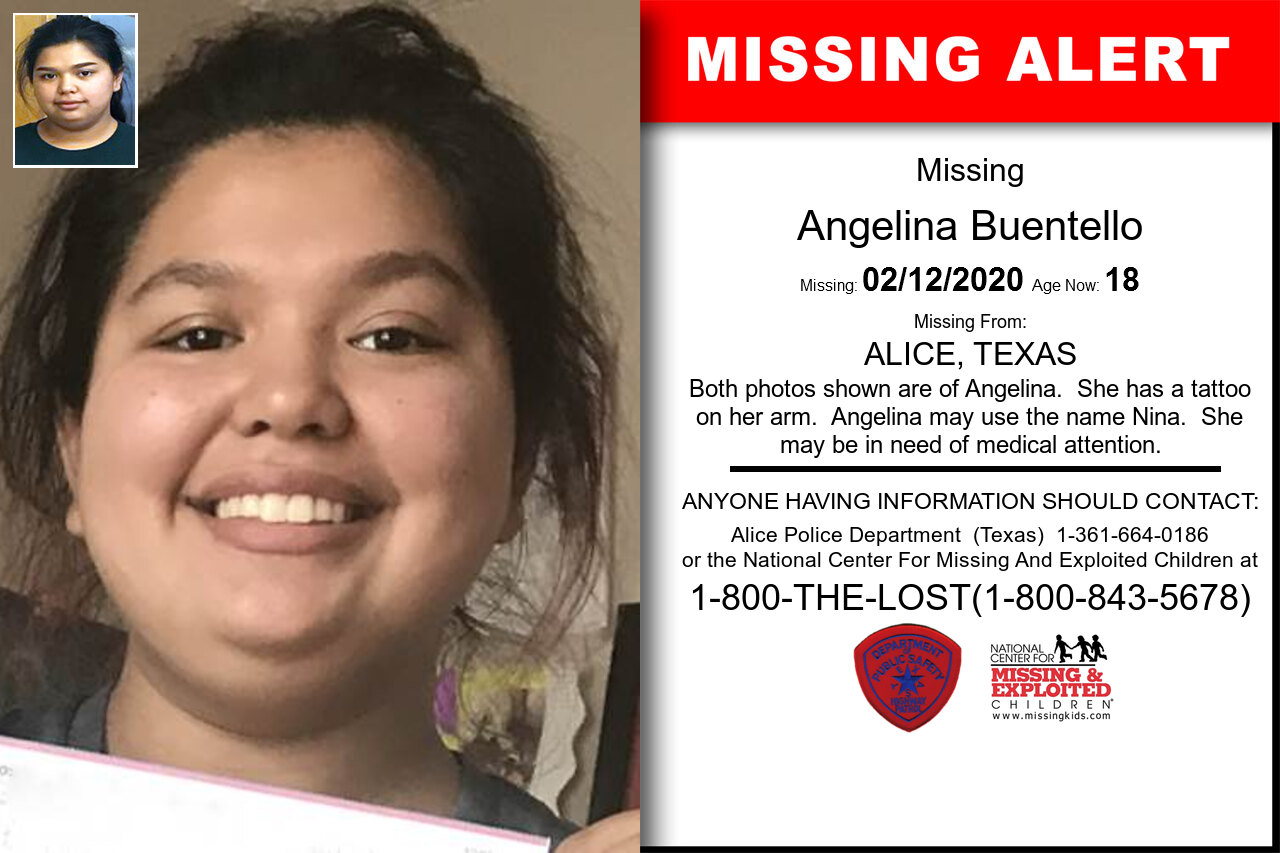 Angelina_Buentello missing in Texas