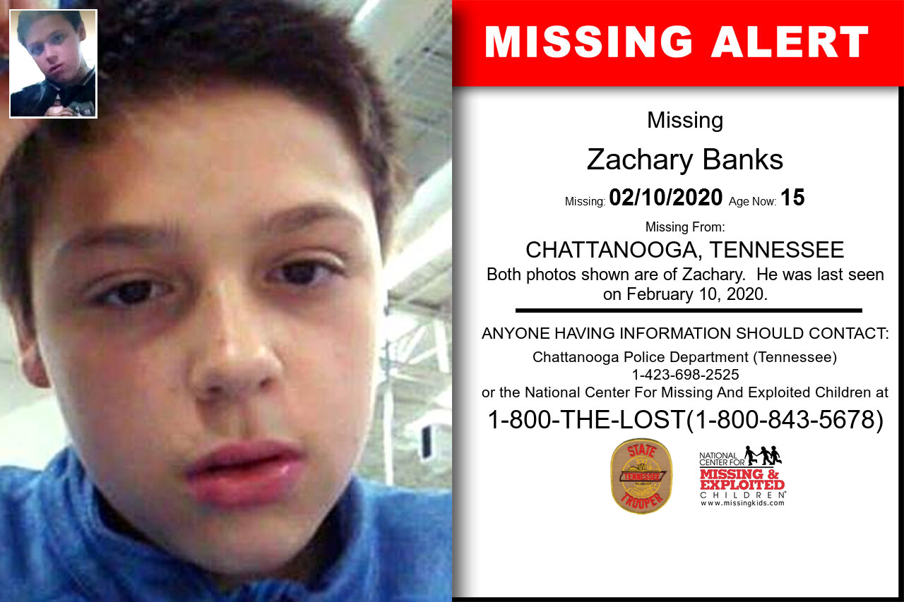 Zachary_Banks missing in Tennessee
