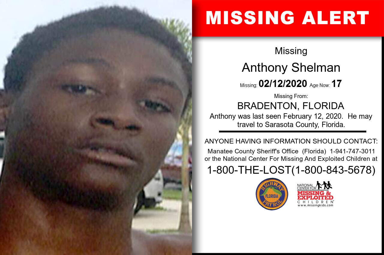 Anthony_Shelman missing in Florida