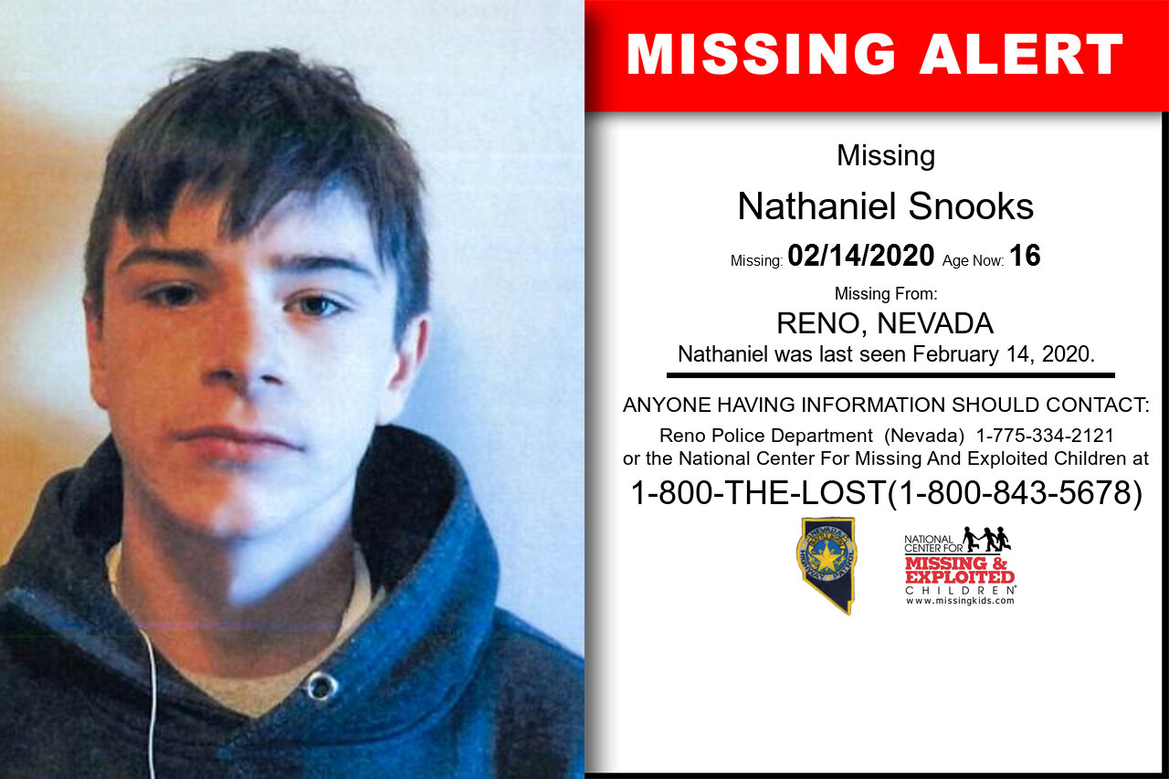 Nathaniel_Snooks missing in Nevada
