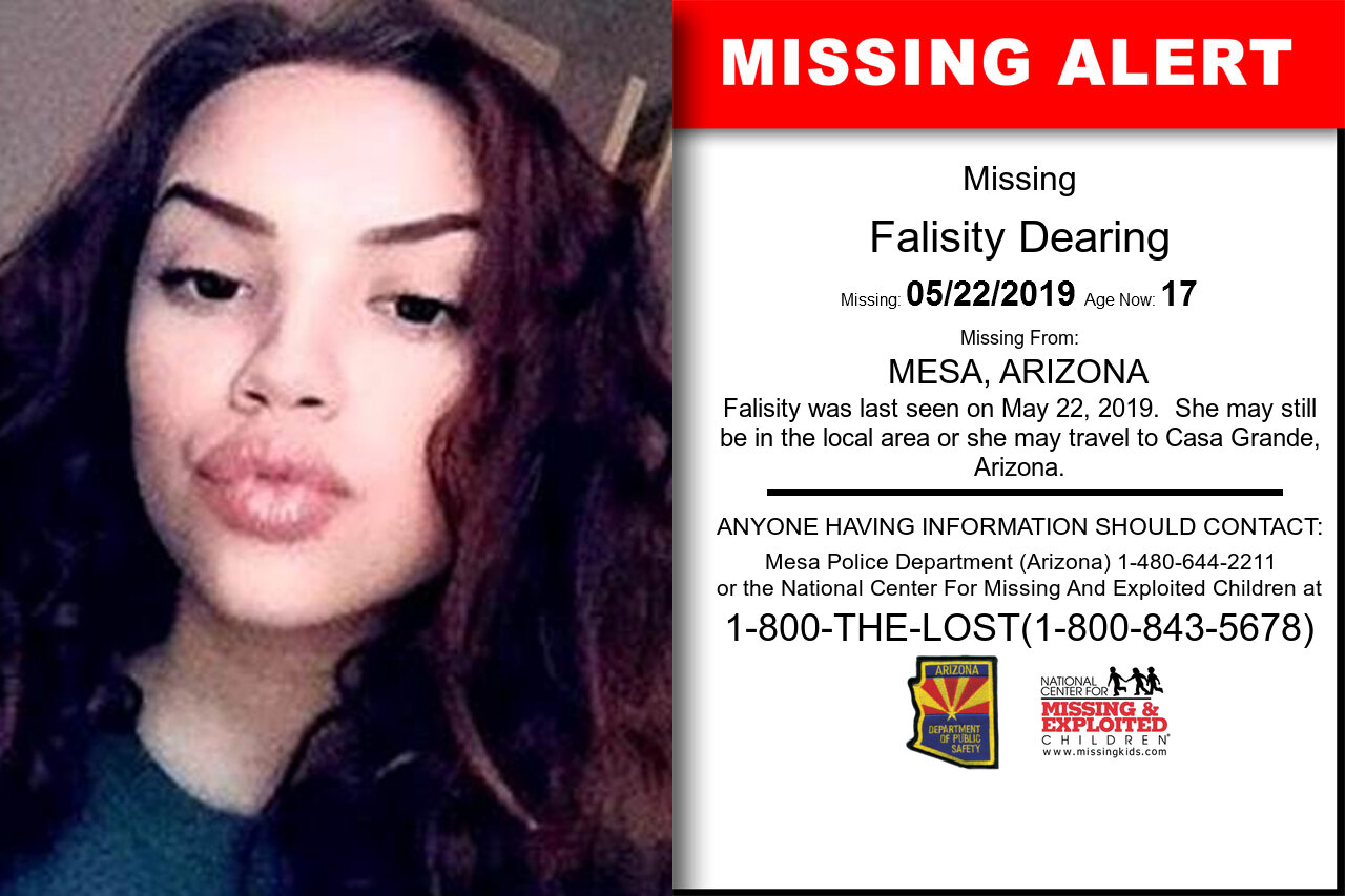 Falisity_Dearing missing in Arizona