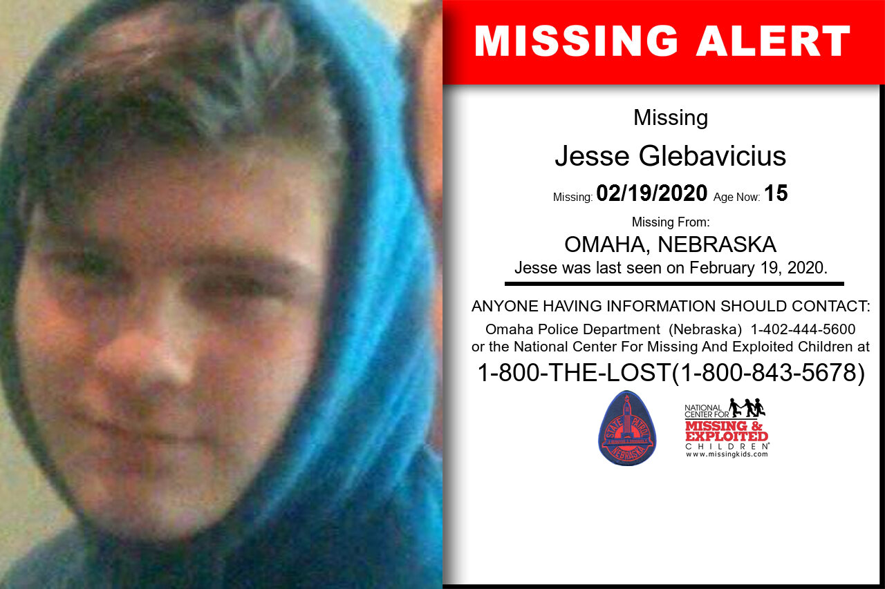 Jesse_Glebavicius missing in Nebraska