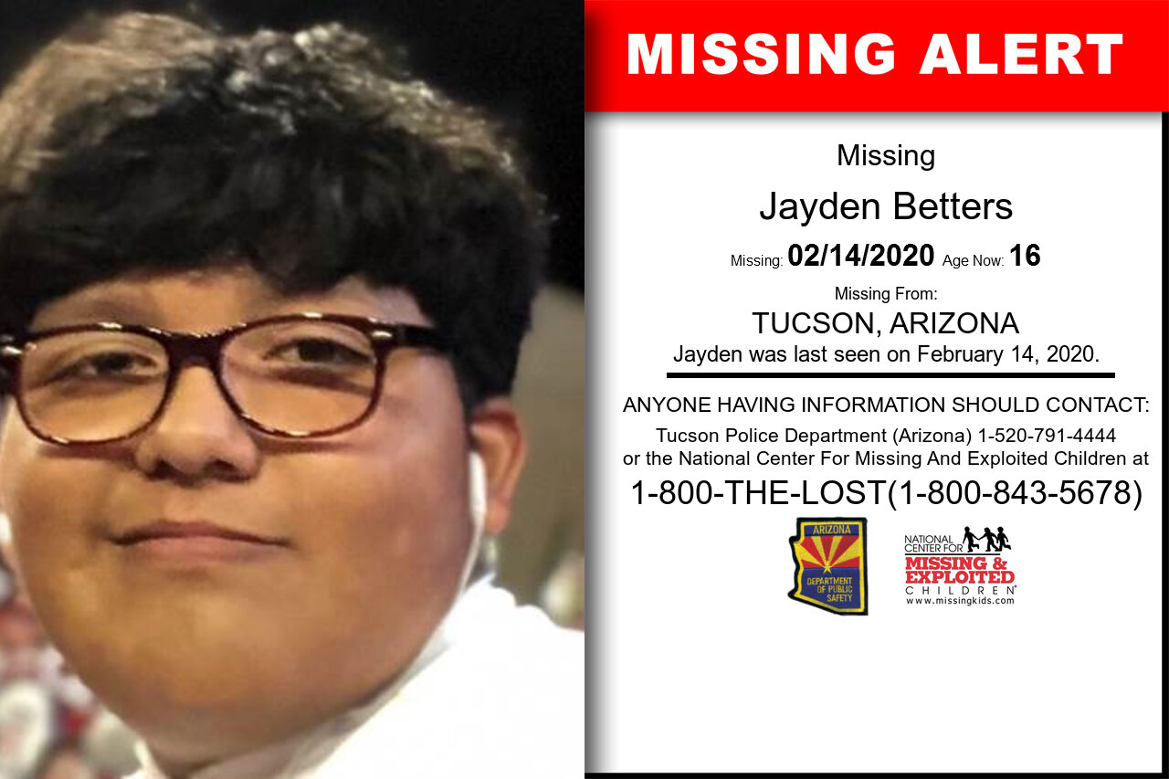 Jayden_Betters missing in Arizona