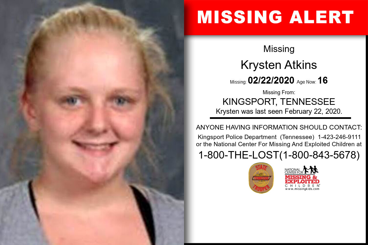Krysten_Atkins missing in Tennessee