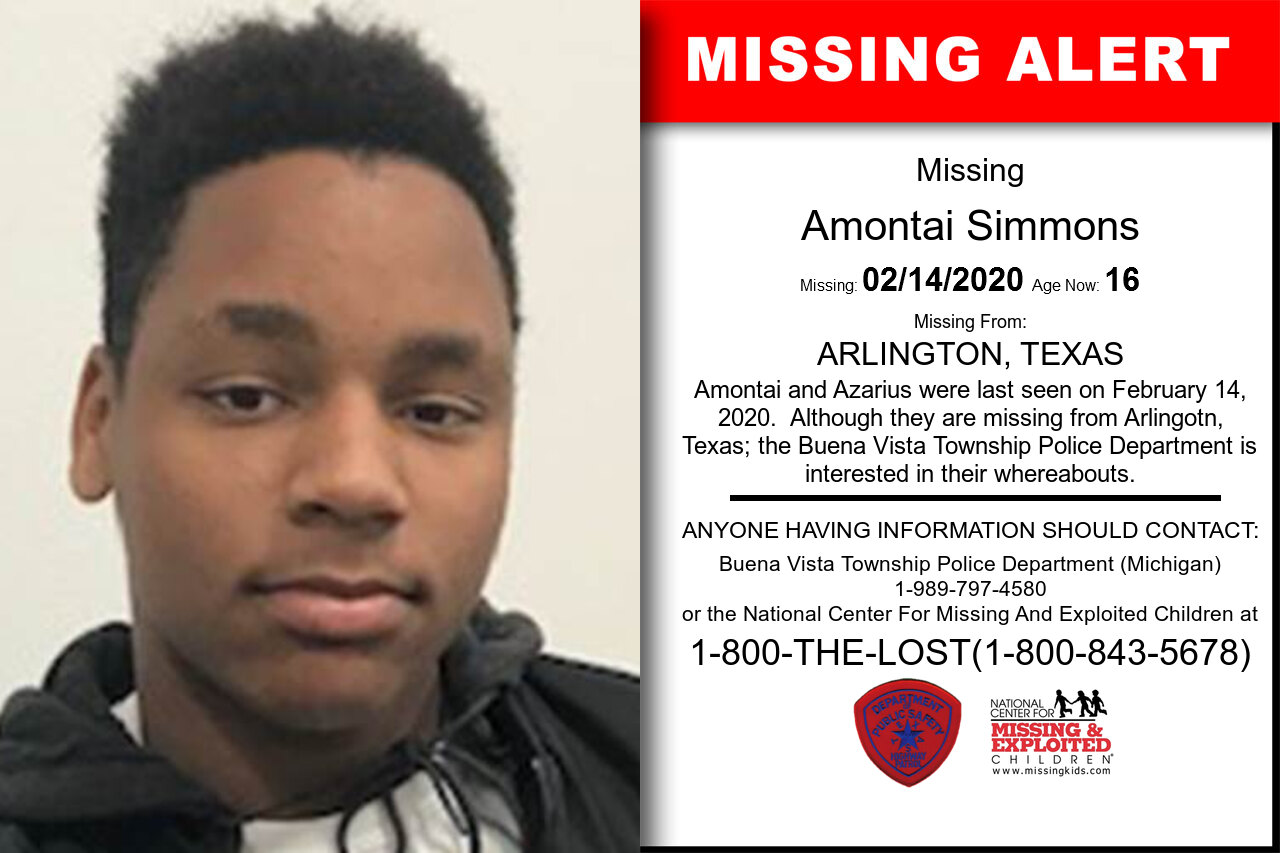 Amontai_Simmons missing in Texas