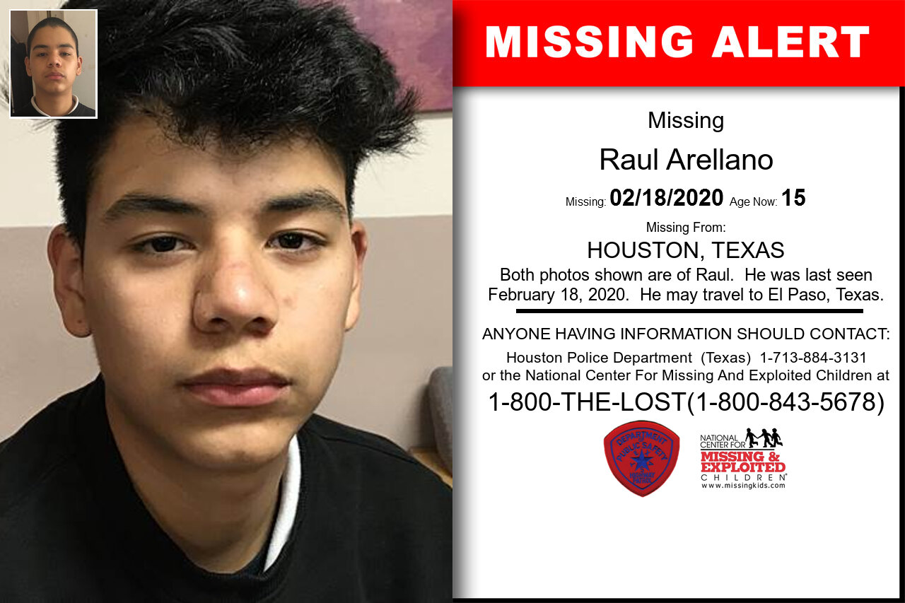Raul_Arellano missing in Texas