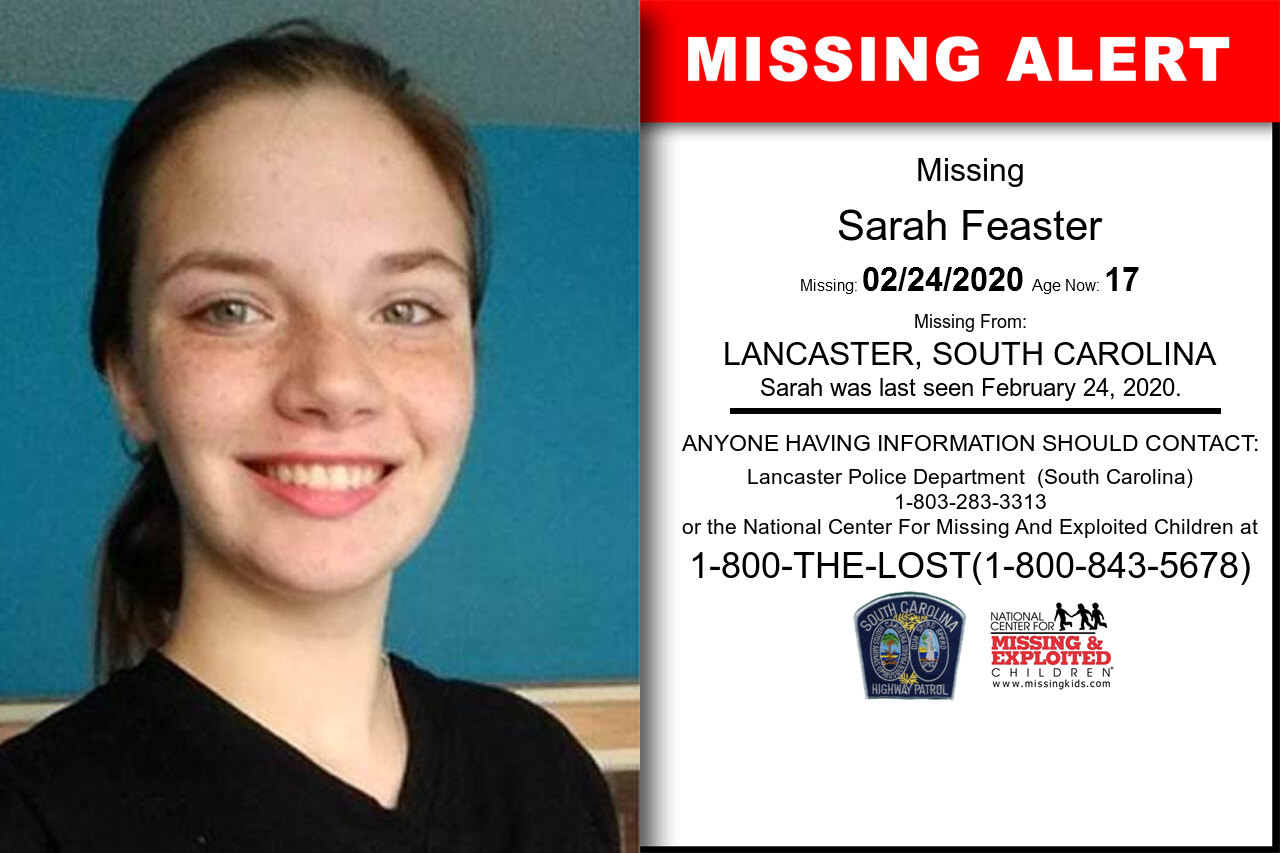 Sarah_Feaster missing in South_Carolina