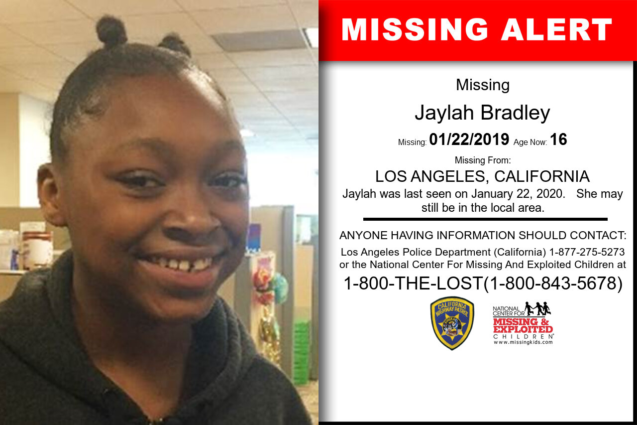 Jaylah_Bradley missing in California
