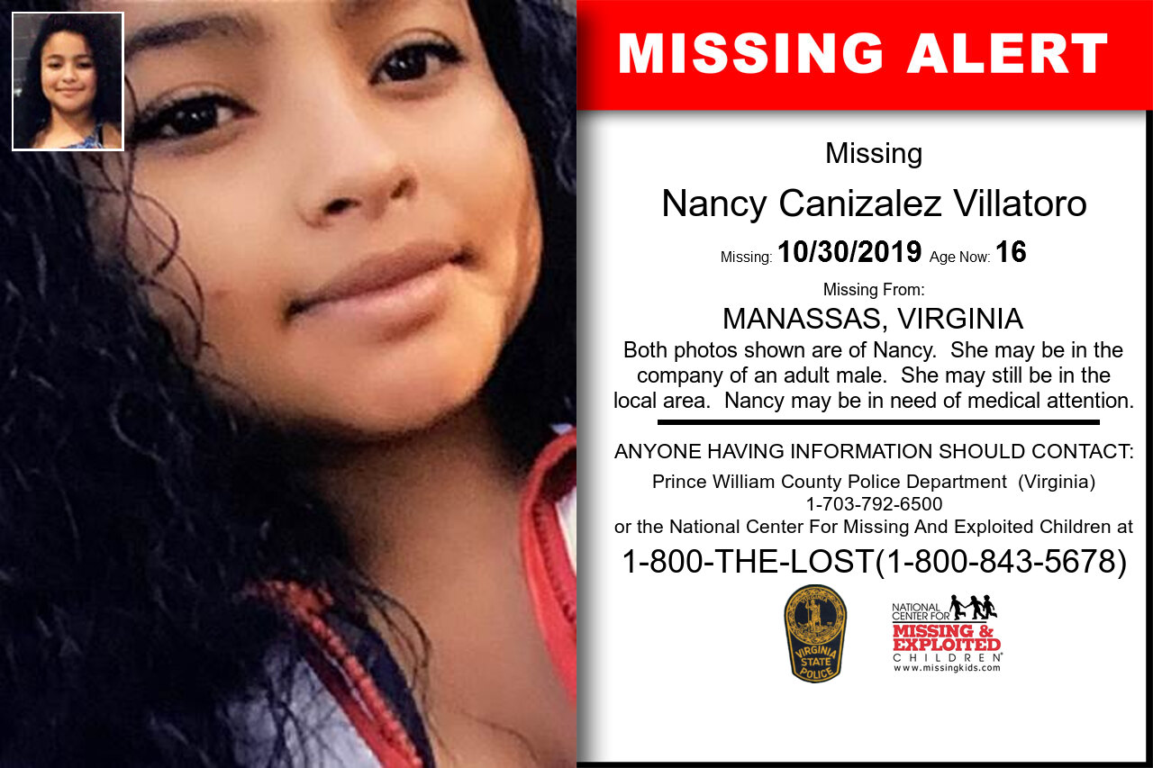 Nancy_Canizalez_Villatoro missing in Virginia