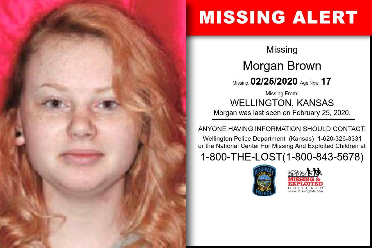 Morgan_Brown missing in Kansas