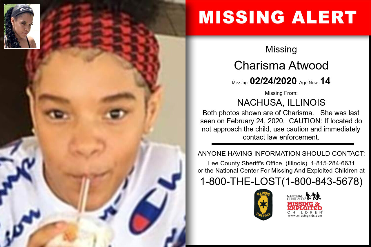 Charisma_Atwood missing in Illinois