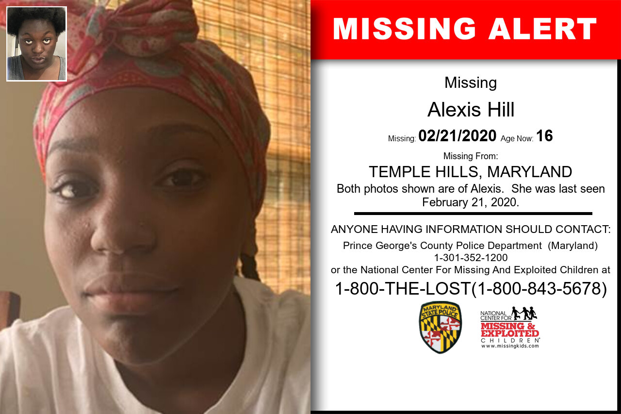 Alexis_Hill missing in Maryland