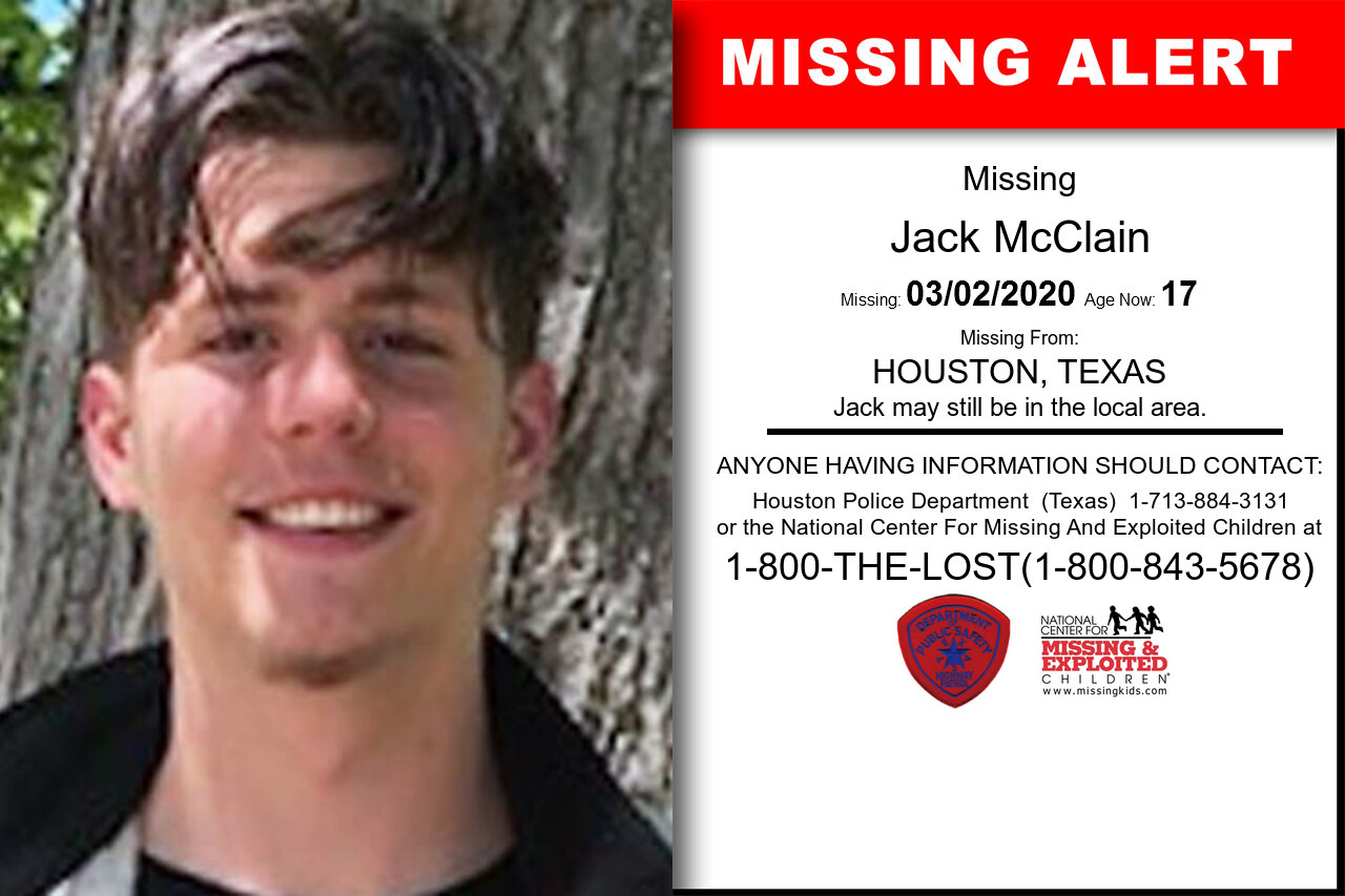Jack_McClain missing in Texas