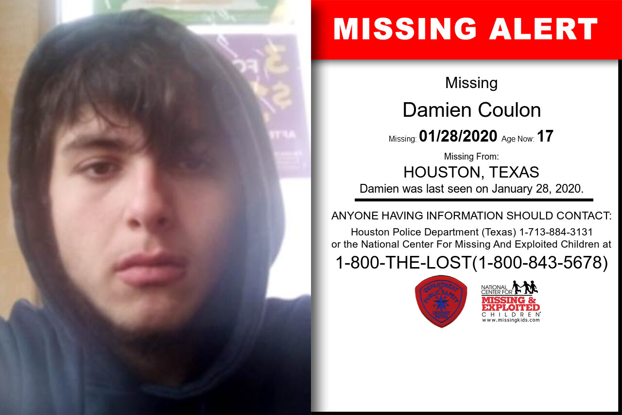 Damien_Coulon missing in Texas
