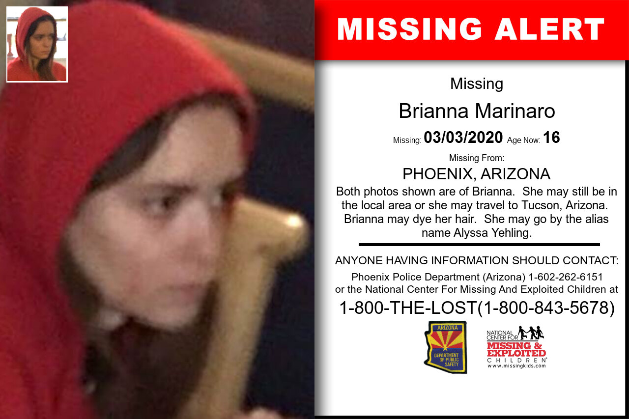 Brianna_Marinaro missing in Arizona