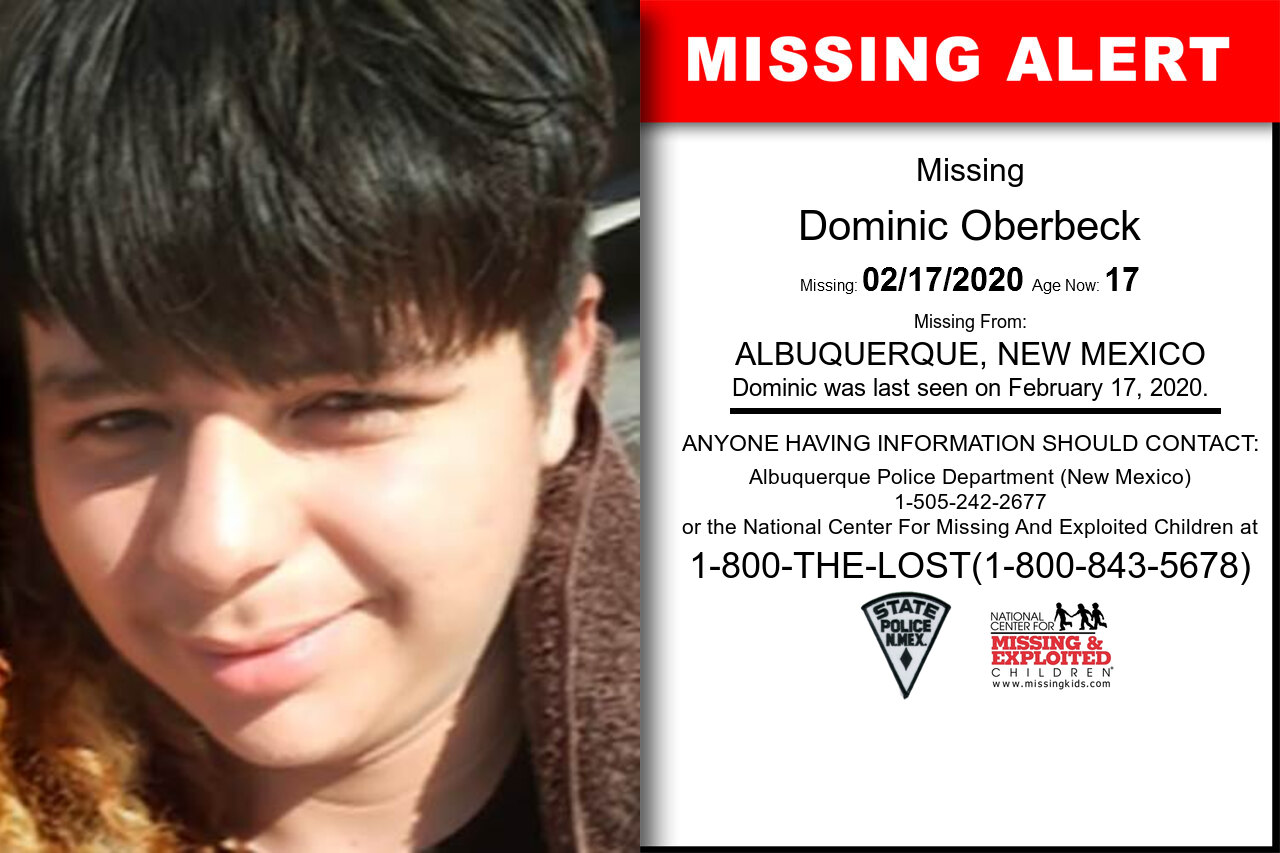Dominic_Oberbeck missing in New_Mexico